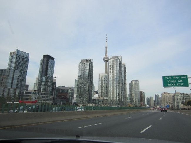 A View of the Toronto skyline
