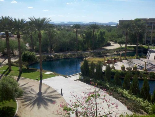 View from JW Marriott Desert Ridge Hotel Room in Phoenix, AZ