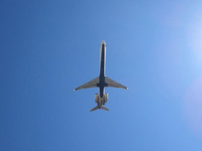 Underbelly of Plane