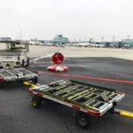 Stop for planes airport tarmac stopsign signage wayfinding attheairport lookbothways