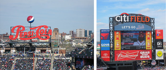Citi Field Pepsi Sign & Jumbotron