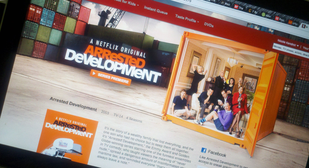 Screenshot of Arrested Development post-Netflix Binge