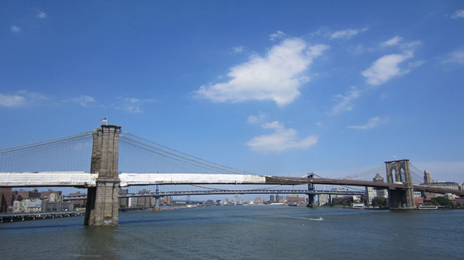 Brooklyn Bridge from the South Street Seaport
