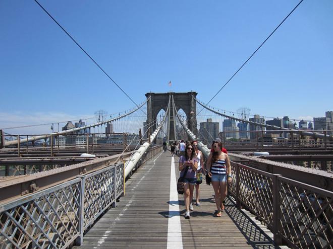 Others Walking on the Brooklyn Bridge