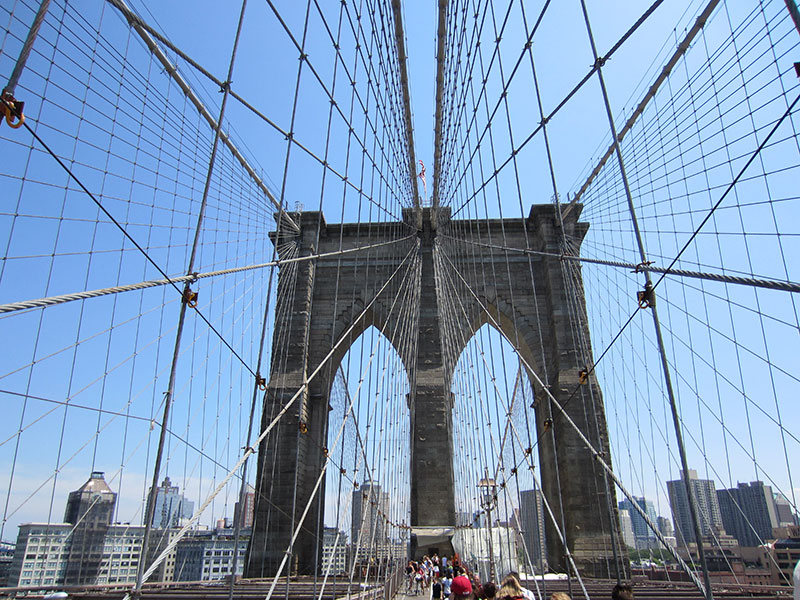 A view of the Brooklyn Bridge
