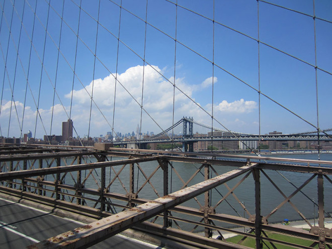 View of Uptown from the Brooklyn Bridge