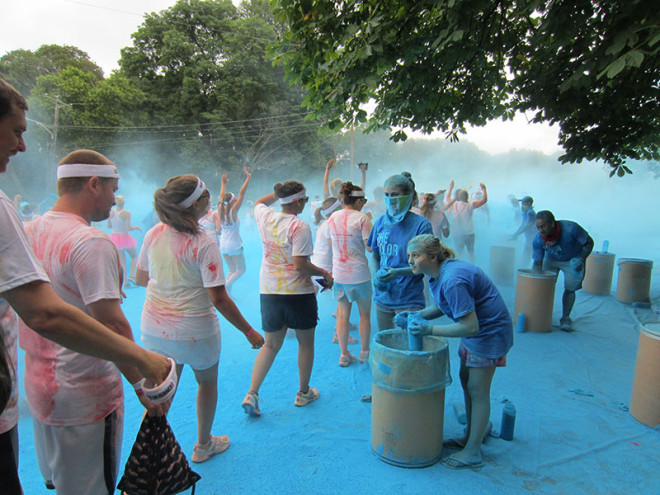 Getting Blue at the Color Run