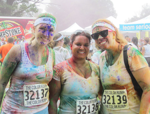 Smiling for the Camera Post Color Run