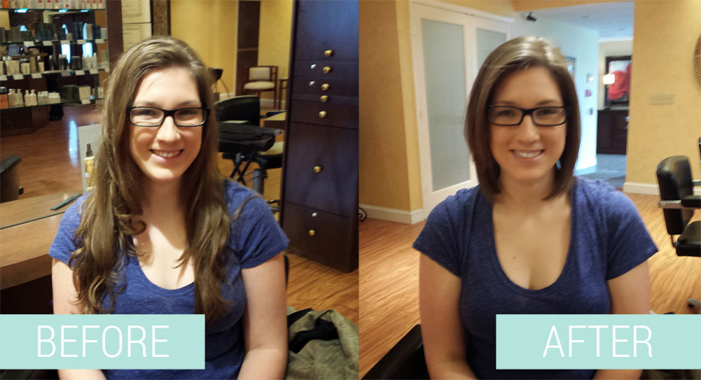 hair donation before and after