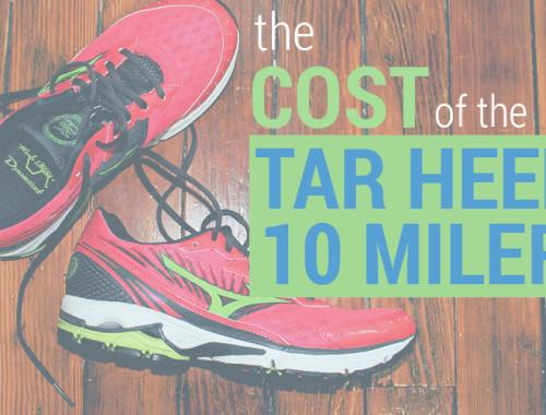 Cost of the Tar Heel 10 Miler