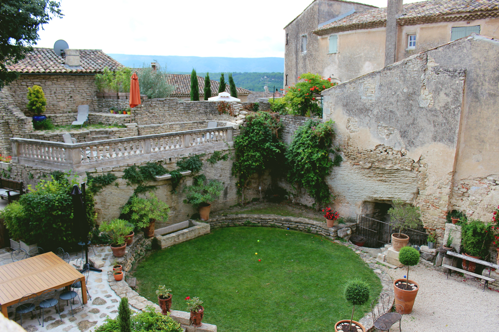 Courtyard of castle in Goult France