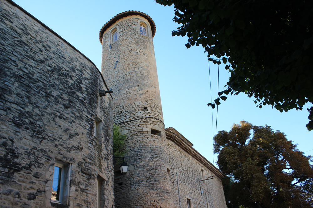 Exterior of Goult castle in France