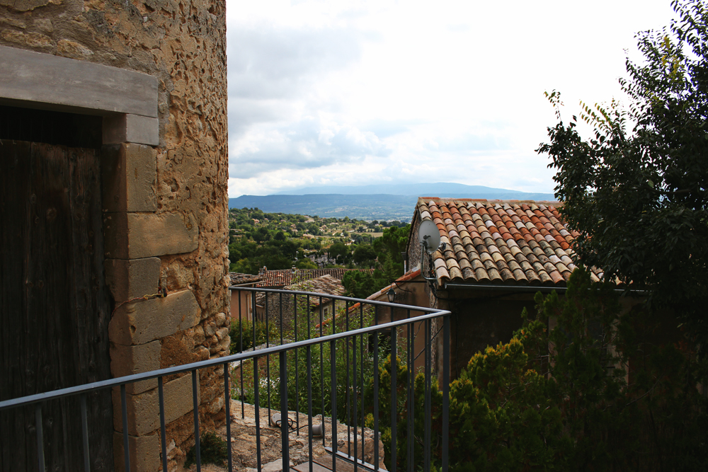 View of Provence region from Goult Castle