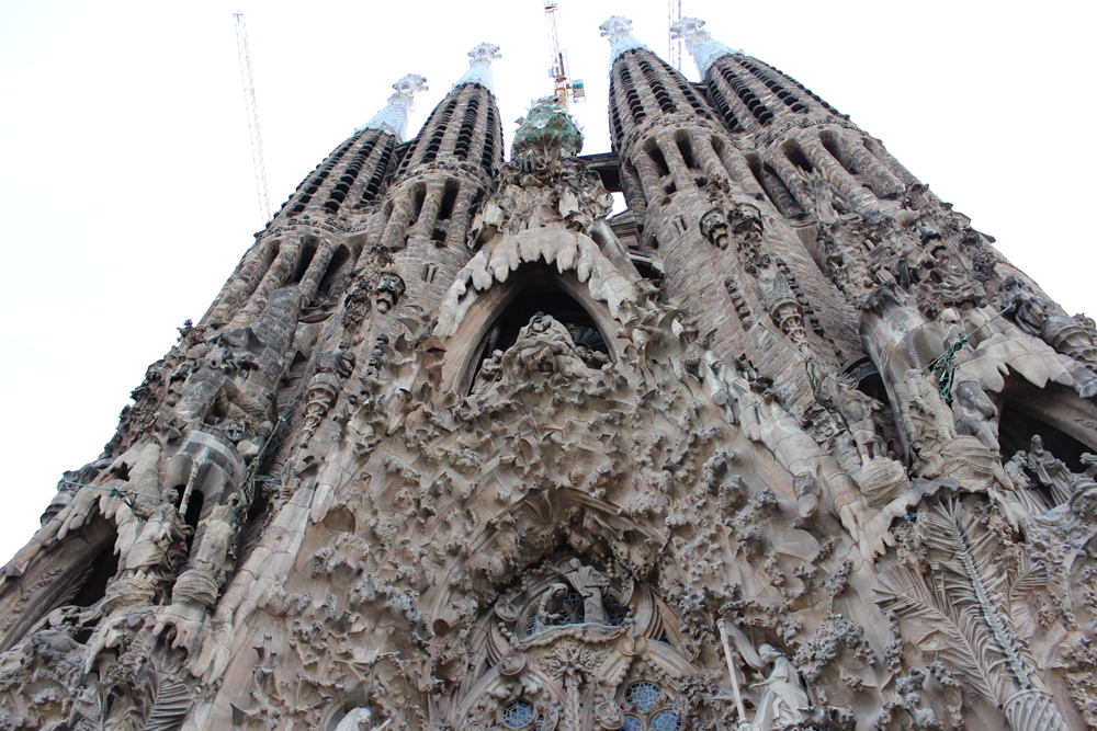 Exterior of Back of Sagrada Familia