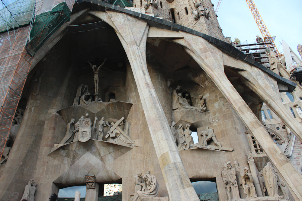 Front Sculptures on Sagrada Familia