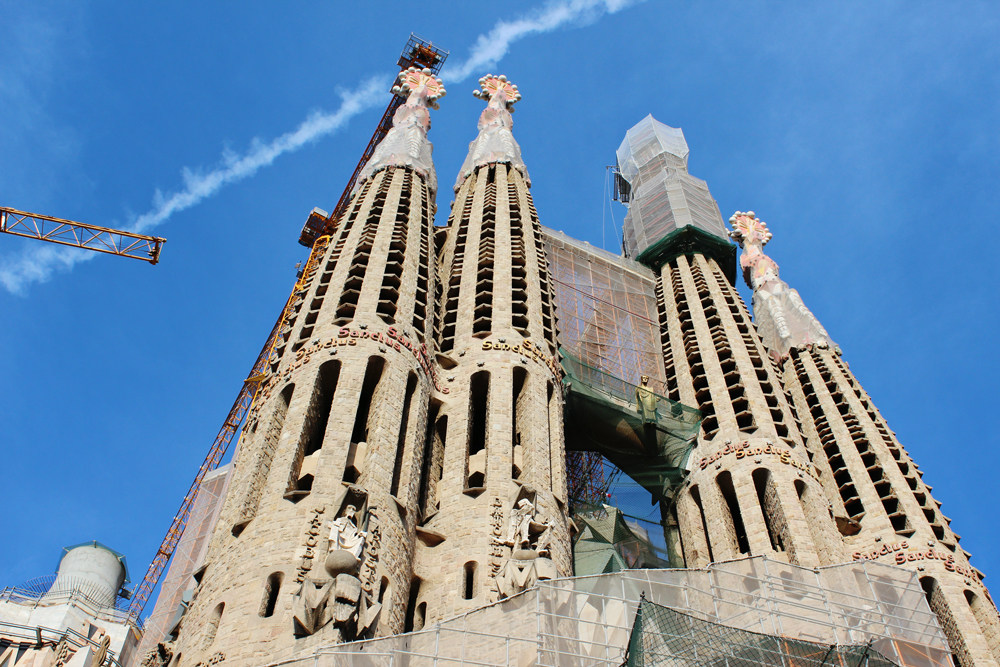 Exterior of Sagrada Familia