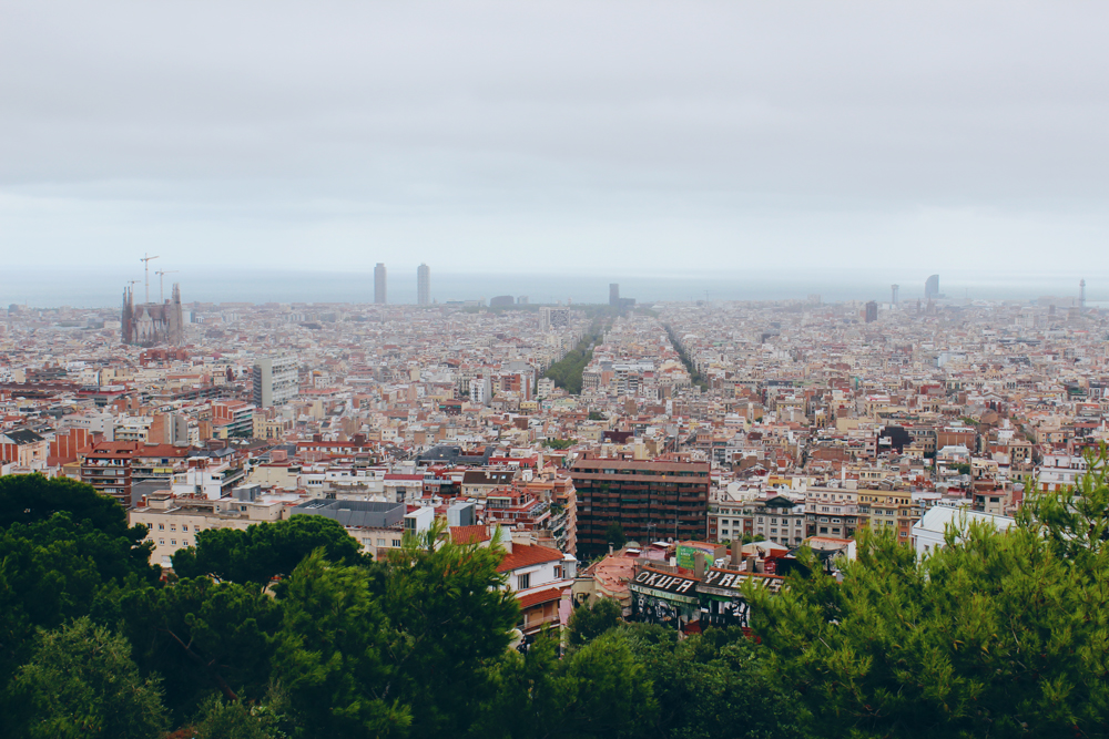 A view of Barcelona, Spain from Park Güell