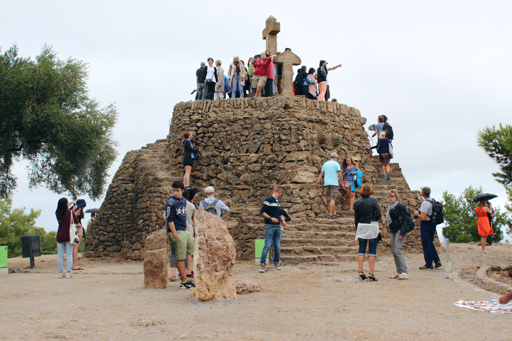 The highest point in Park Güell