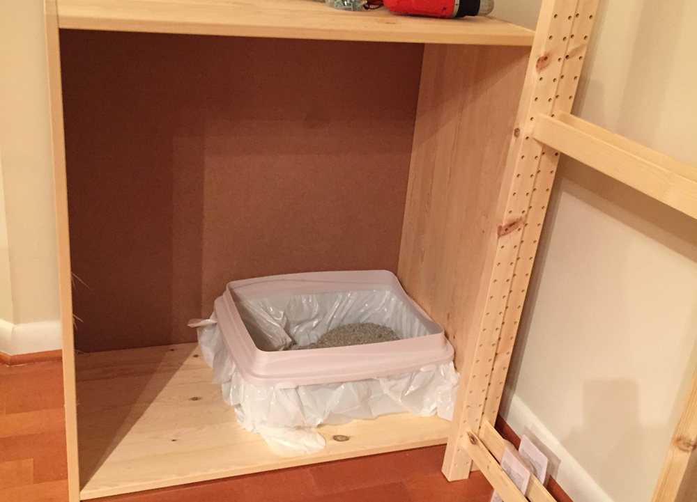 Cat Litter Box Storage - Dry Run
