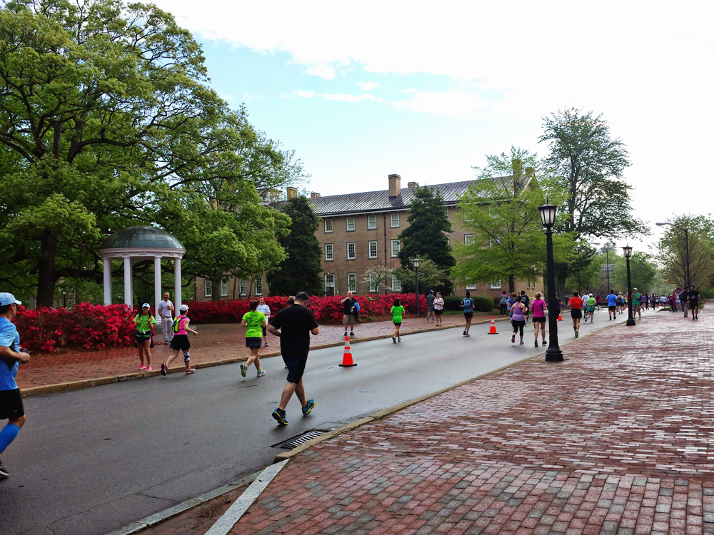 Old Well during Tar Heel 10 Miler
