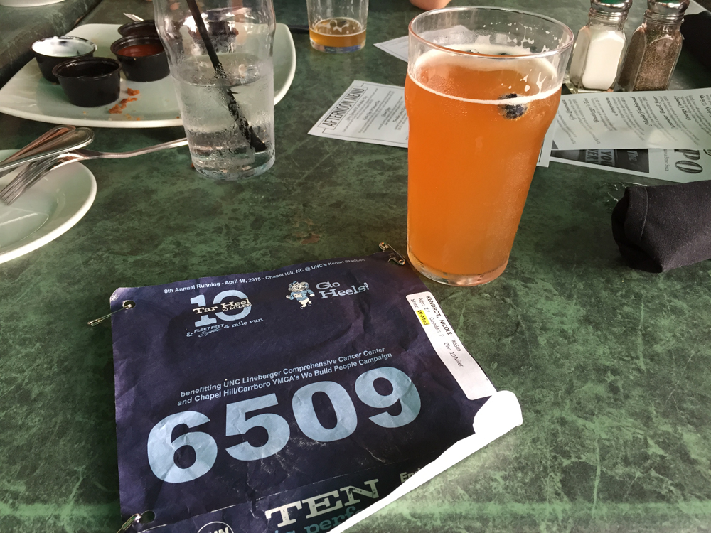 Tar Heel 10 Miler Celebratory Drinks