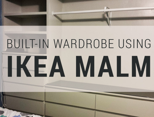 Built-in wardrobe using IKEA Malm