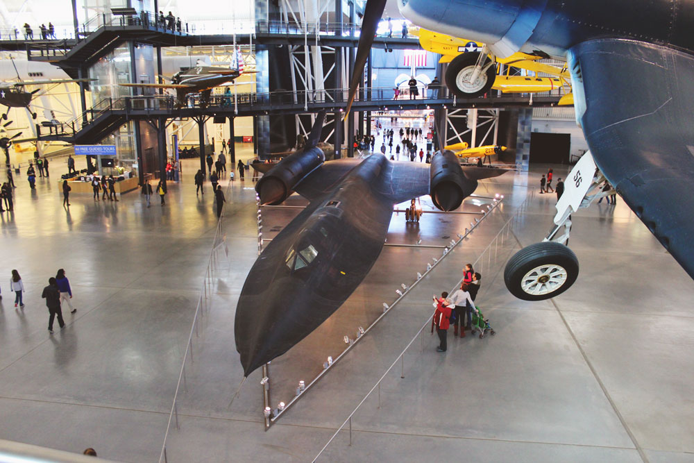 Blackbird SR-71 from the top