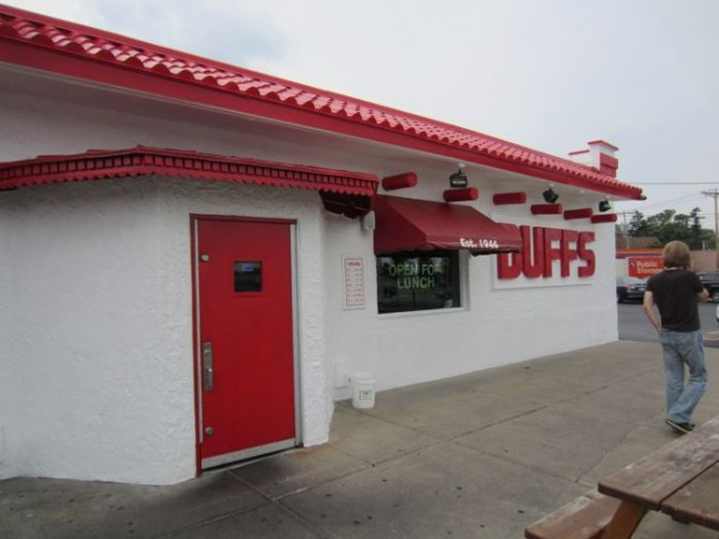 Outside of Duff's in Buffalo, NY