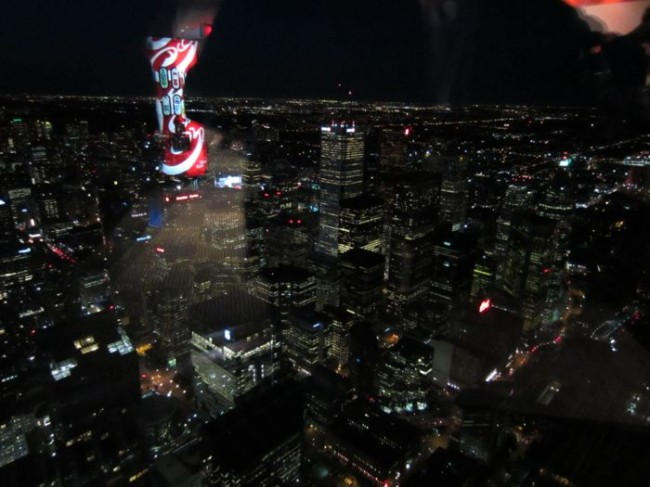 Nighttime view of Toronto from the CN Tower