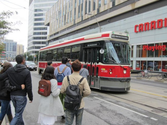 Tram in Downtown Toronto