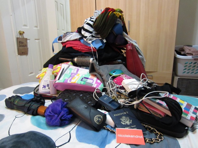 Pile of Stuff That Needs to Be Packed in a Carry On