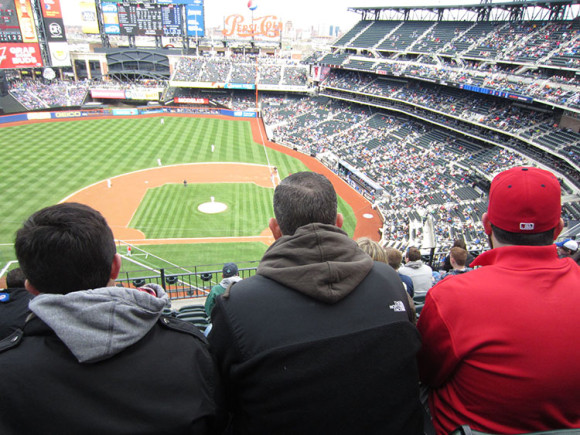 People in front of us at Citi Field
