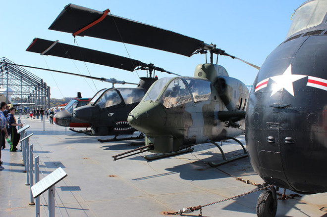 Helicopters at the Intrepid Museum