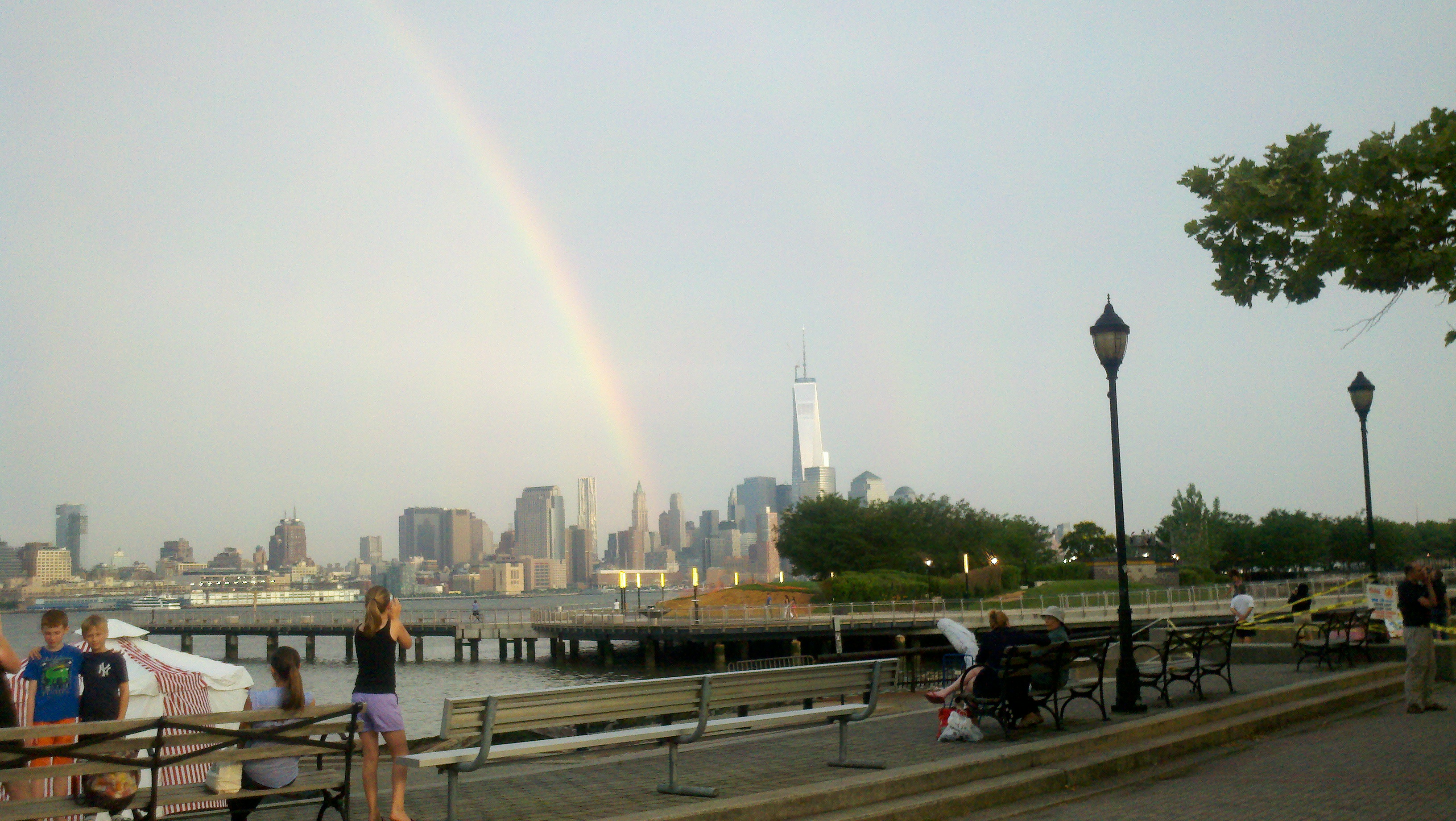 Rainbow next to the Freedom Tower