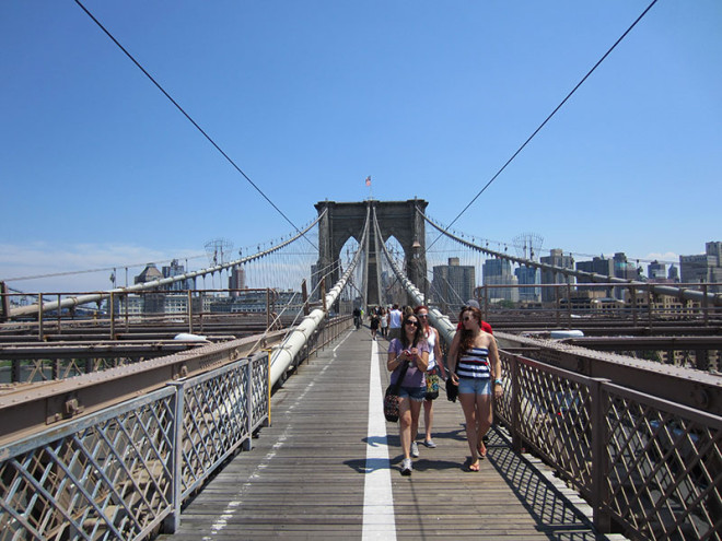 Others Walking on the Brooklyn Bridge