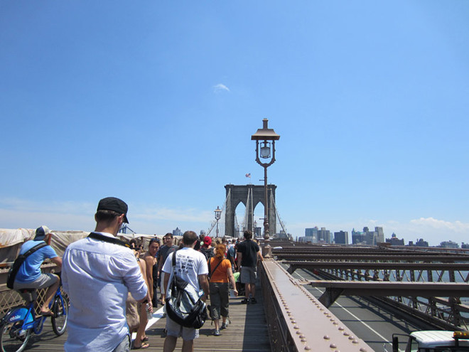 Starting Out on the Brooklyn Bridge