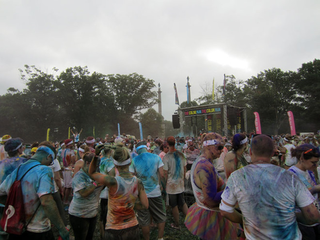 Post-Color Run Color Throw