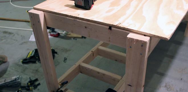 Legs assembled wrong on workbench