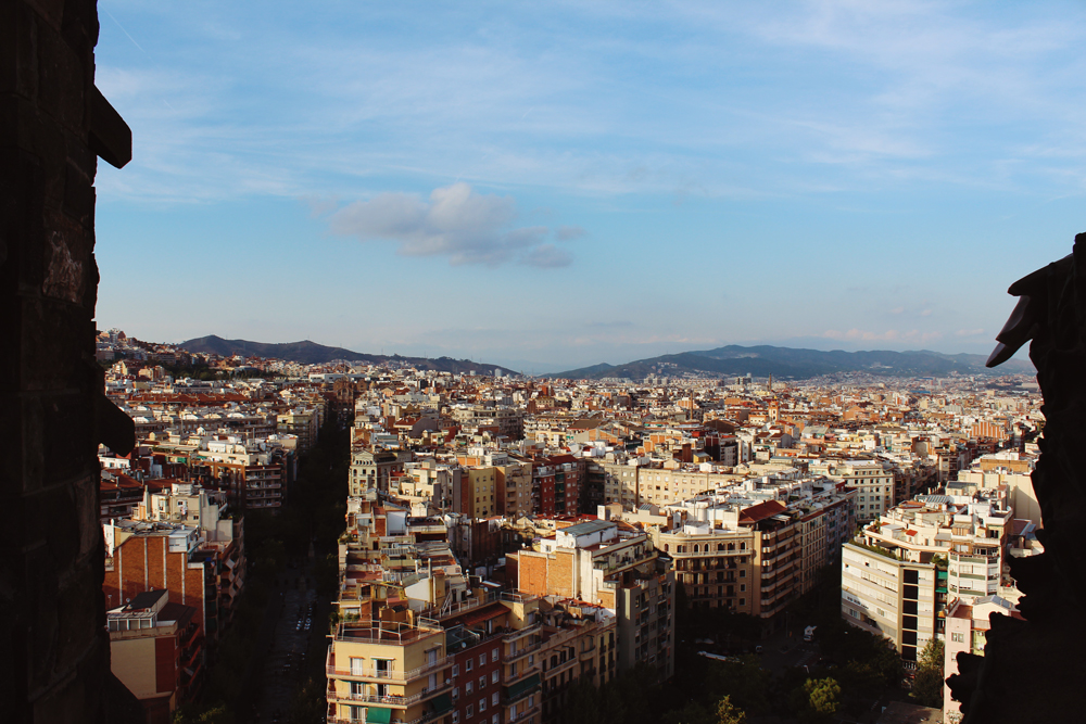 View of Barcelona from Sagrada Familia