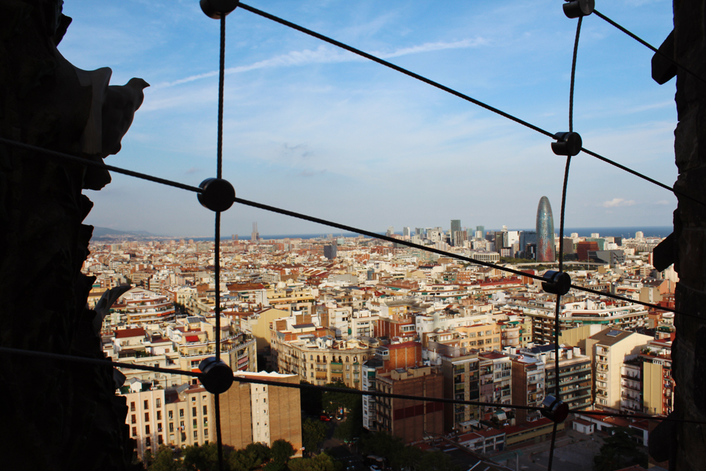 View of Barcelona from Sagrada Familia Tower