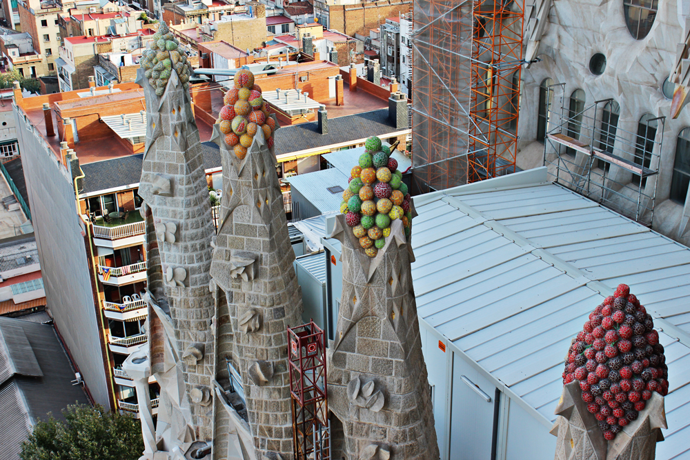 Colorful Towers on Sagrada Familia