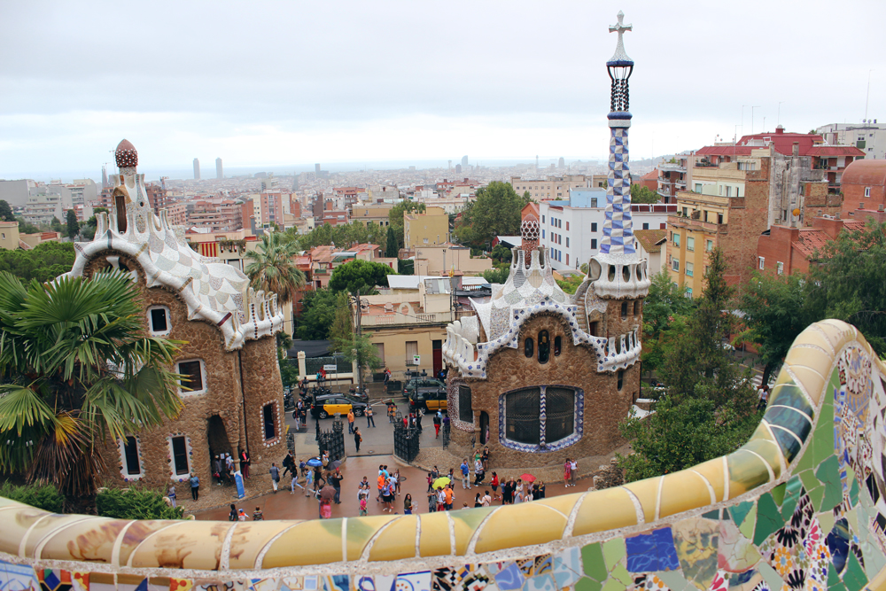 Overlooking the entrance to Park Güell