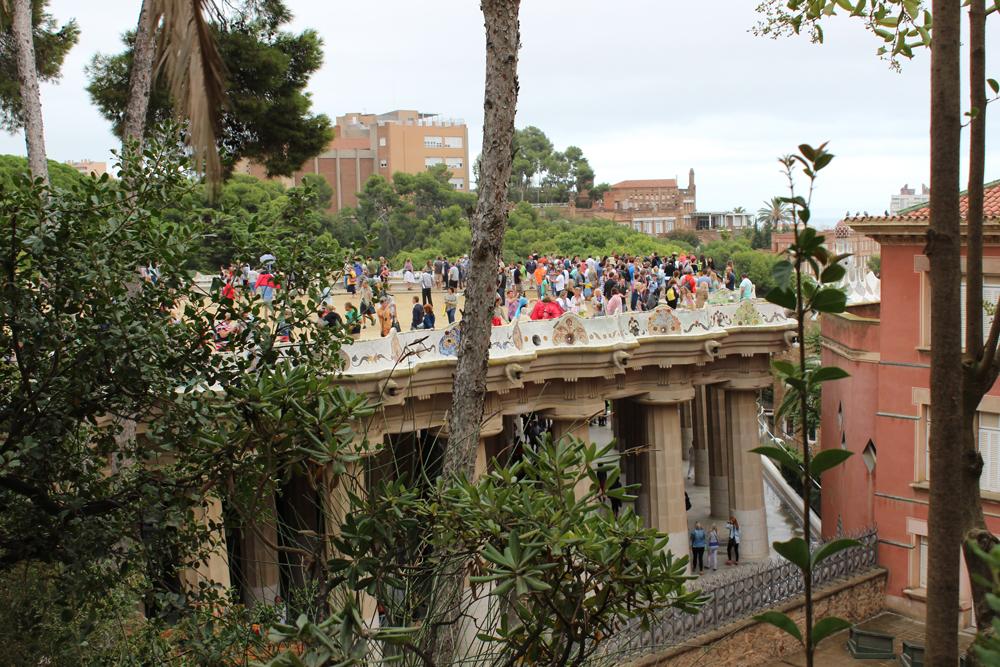 Park Güell sits on columns