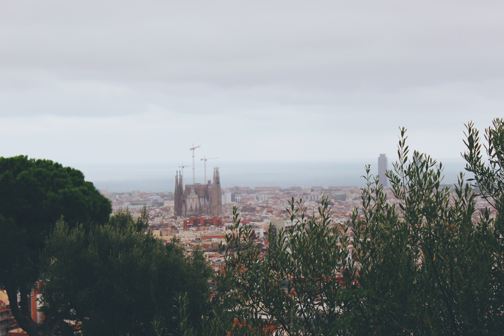 A view of Sagrada Familia from Park Güell