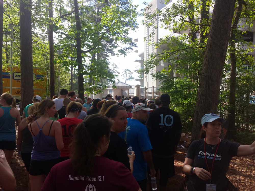 Line after finishing the Tar Heel 10 Miler