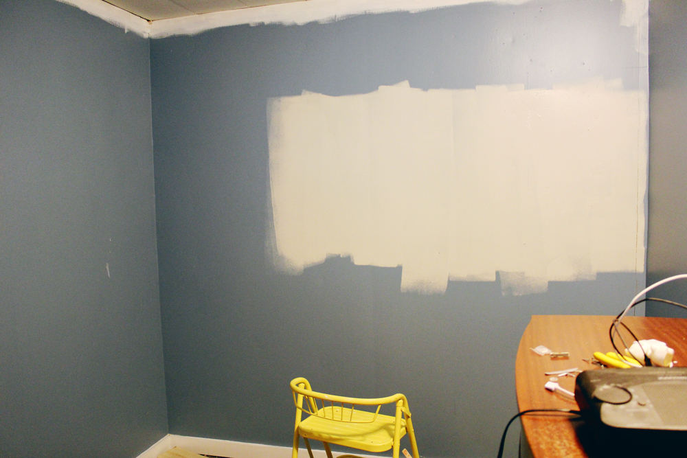 Starting to repaint the wall