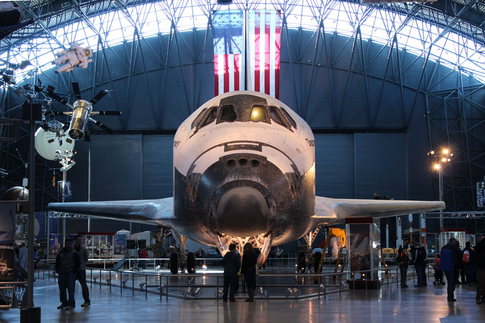 Discovery from the front at Udvar Hazy National Air & Space Museum