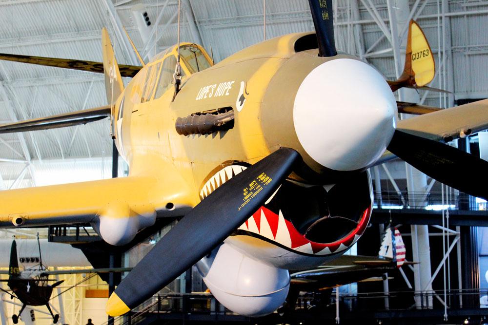 Menacing plane at Udvar Hazy National Air & Space Museum