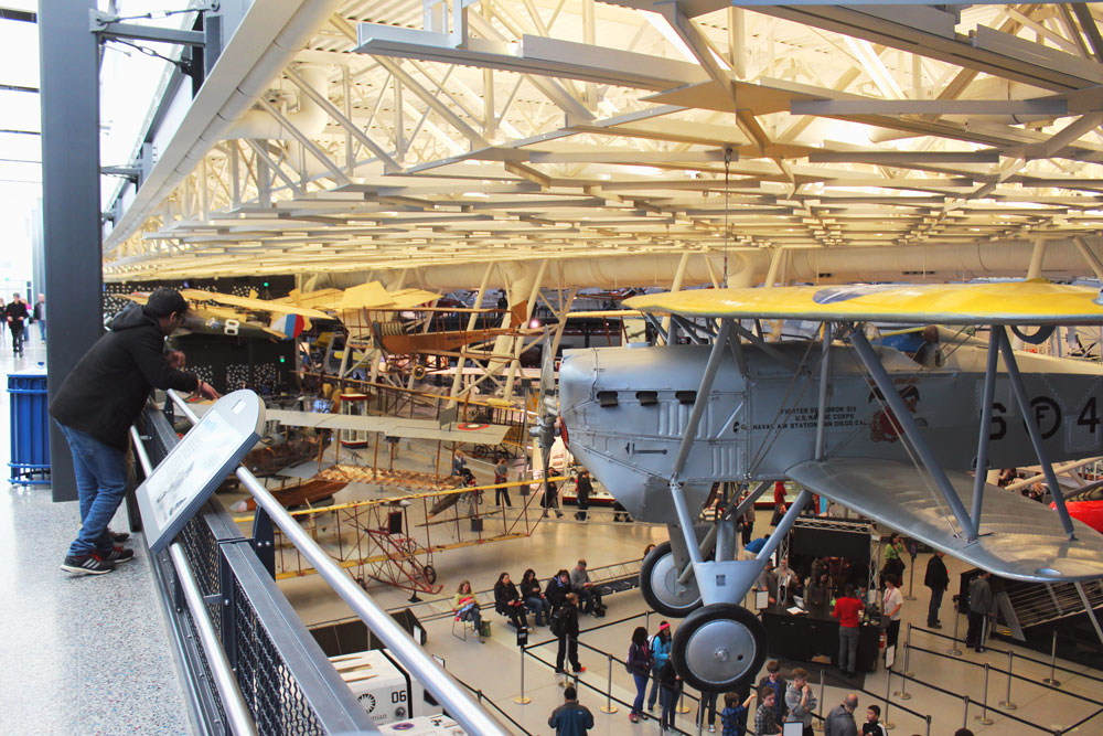 Planes everywhere at Udvar Hazy National Air & Space Museum