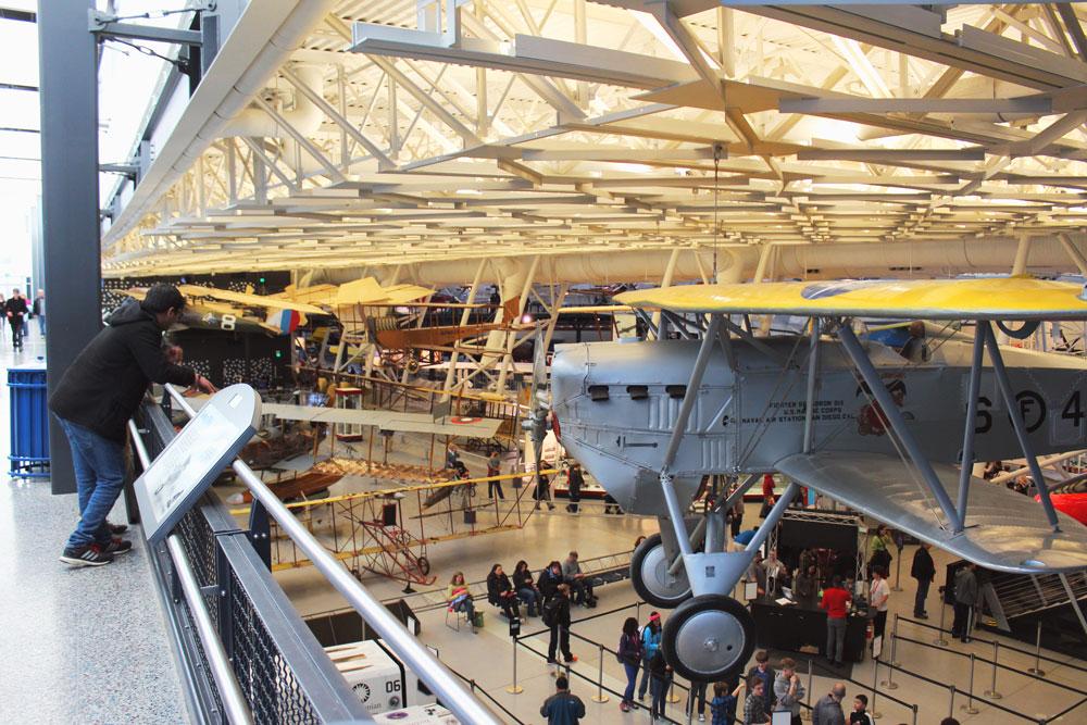 Planes everywhere at Udvar Hazy National Air & Space Museum